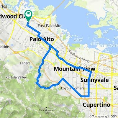 804 16th Ave, Menlo Park to 804 16th Ave, Menlo Park