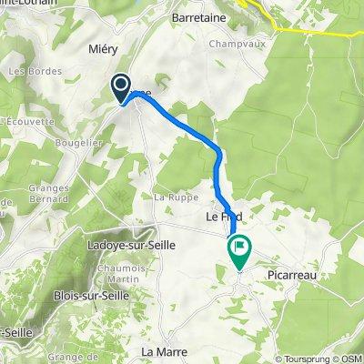 De 576 Rue de la Croix Probis, Plasne à 1 Route de Le Fied, Fay-en-Montagne