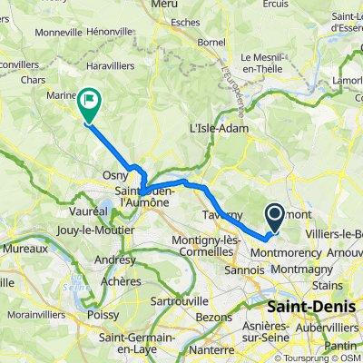 De Chemin de la Croix de l'Evangile 8, Andilly à Rue de Grisy 10, Cormeilles-en-Vexin