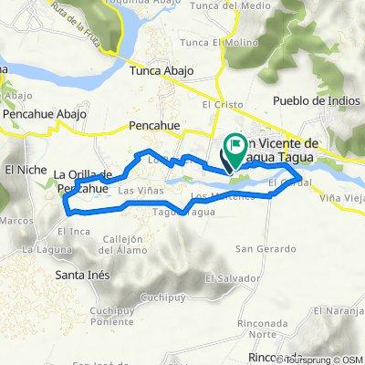 De Callejón Tiralarga 54, San Vicente de Taguatagua a Francia 1119, San Vicente de Taguatagua