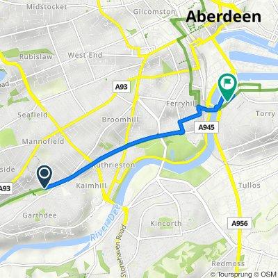 102 Morningside Ave, Aberdeen to 56 Menzies Road, Aberdeen