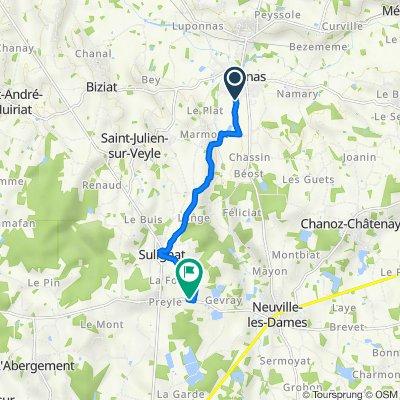 De 29 Route de Montlardon, Vonnas à D64, Neuville-les-Dames