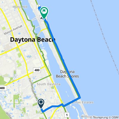 3520 S Nova Rd, Port Orange to 250 N Atlantic Ave, Daytona Beach