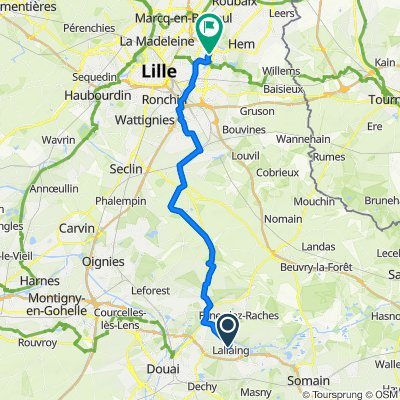 Itinéraire à partir de 16 Rue Lambrecht, Lallaing