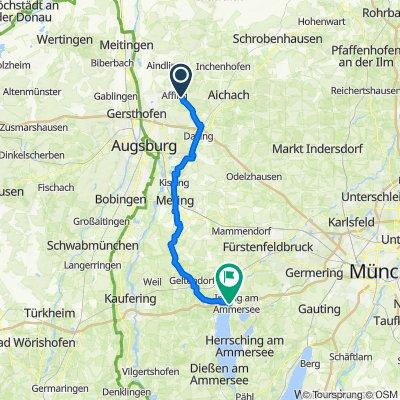AIC4 7, Affing nach Landsberger Straße 70, Inning am Ammersee