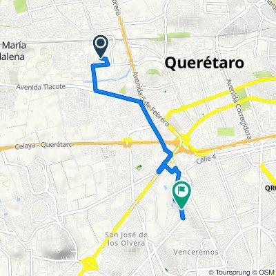 De Unnamed Road, Santiago de Querétaro a Calle Heriberto Jara 57, Santiago de Querétaro