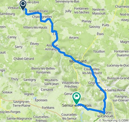 Etape 2 Pacy-sur-Armançon - Semur en Auxois