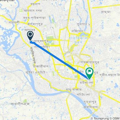 Ward-43, Dhaka to Sadek Hossain Khoka Road 2, Dhaka