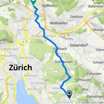 Binzstrasse, Zollikerberg nach Sägereistrasse 25, Glattbrugg