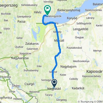 Zrínyi Miklós utca 75., Nagyatád to Berzsenyi Dániel utca 1–9/b., Gyenesdiás