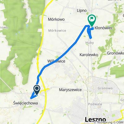 Trasa z Śmigielska, Święciechowa