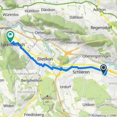 Route nach Im Grund 3, Spreitenbach