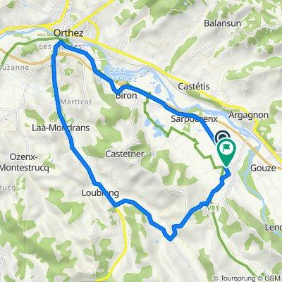 De Route d'Orthez, Maslacq à 3 Rue de l'Église, Maslacq