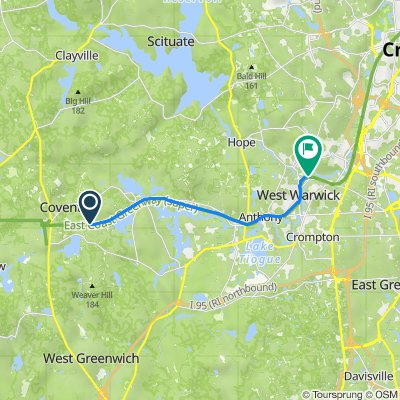 Route from Na, Coventry