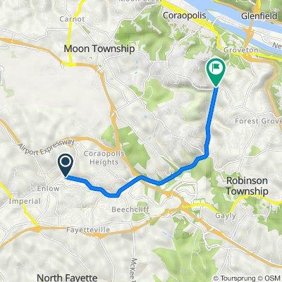 Montour Trail 113, Coraopolis to Hassam Road, Moon Township