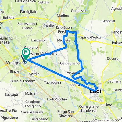 Da Via della Basilica, Vizzolo Predabissi a Via Pandina, Vizzolo Predabissi