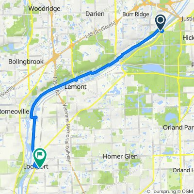 Willow Springs Rd, Willow Springs to 501–531 E Ninth St, Lockport