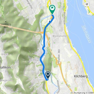 Im Sihlhof 4, Adliswil to Allmendstrasse 5B, Zürich