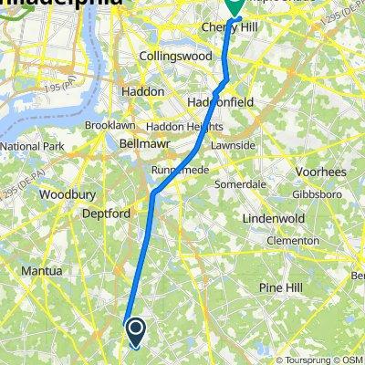 736 Rutland Ct, Sewell to 2000 NJ-38 W, Cherry Hill