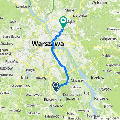 Wilanowska 8A, Józefosław do Zamkowa 1, Warszawa