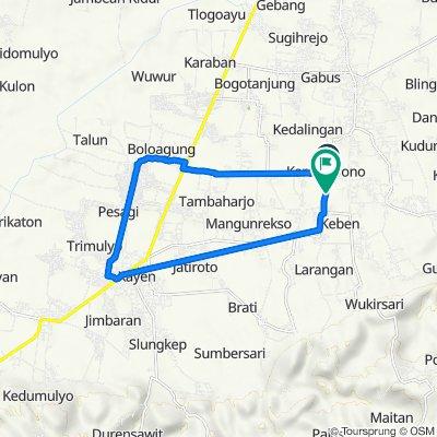 Jalan Kedalingan - Karaban 1, Tambakromo to Jalan Gabus-Tambakromo