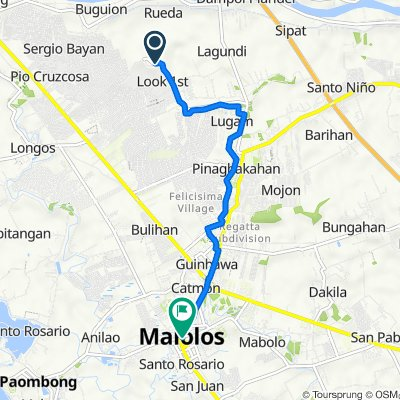 Unnamed Road, Malolos to Canlapan Street, Malolos
