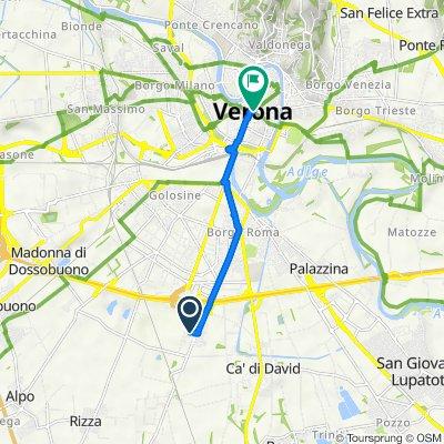 От Via Mercurio 1, Верона до Piazza Brà, Верона