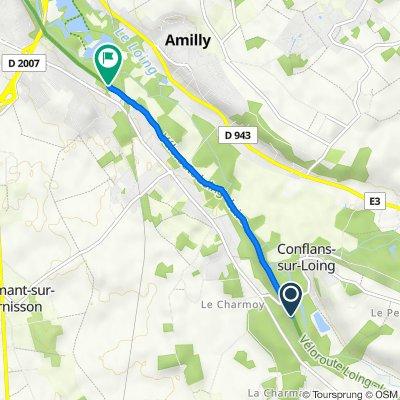Itinéraire vers 444 Rue de la Coopérative, Amilly
