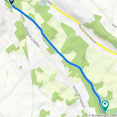 Itinéraire à partir de Rue de la Coopérative, Amilly
