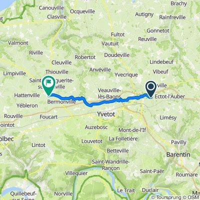 De 247 Route des Promenoles, Saint-Martin-aux-Arbres à 38 Chemin des Courses, Fauville-en-Caux