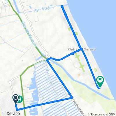 De Calle Ronda de Bruguieres, 79, Xeraco a Calle la Costera, 13B, Xeraco