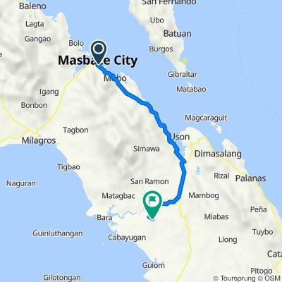Eastern Nautical Highway, Masbate City to Pulot, Cawayan