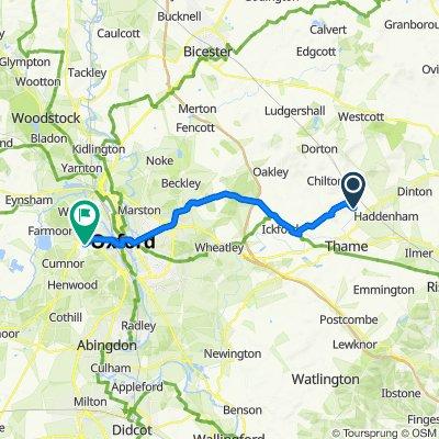 Notley Farmhouse, Chearsley Road, Aylesbury to 4 Martin Close, Oxford