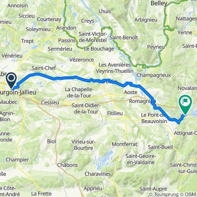 gare sncf, Bourgoin-Jallieu à D921, Saint-Alban-de-Montbel