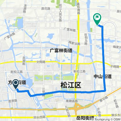 Route to No.135 Yinze Road, Shanghai