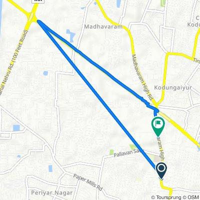83, Madavaram High Road, Chennai to Madavaram High Road, Chennai