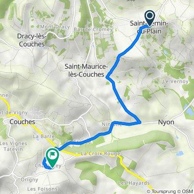 De 16 Rue de la Mairie, Saint-Sernin-du-Plain à Chalencey, Couches