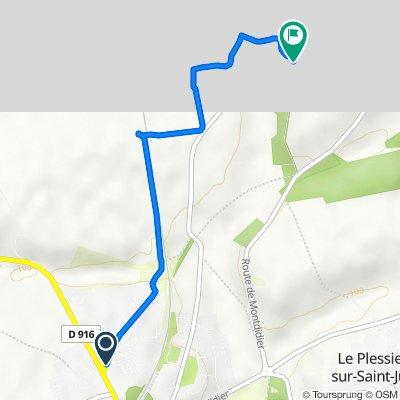 De Chemin de Trémonvilliers, Saint-Just-en-Chaussée à Le Faubourg, Plainval