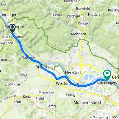 Koblenzer Straße 53, Brohl-Lützing nach Rheinuferstraße 2, Kaltenengers