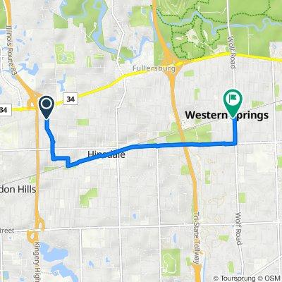 400–598 N Bruner St, Hinsdale to 805 Burlington Ave, Western Springs