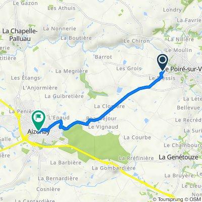 De Placette de la Belle Meunière 1, Le Poiré-sur-Vie à Rue cassiopee 4, Aizenay