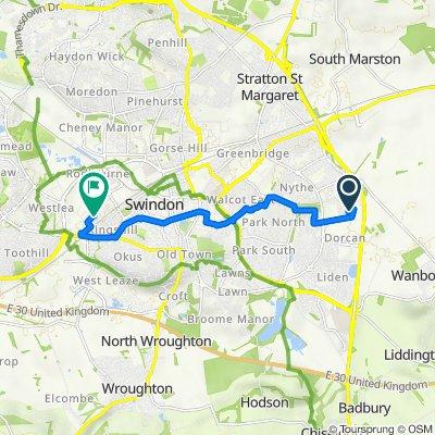 300 Dorcan, Murdock Road, Swindon to 43 Padstow Road, Swindon