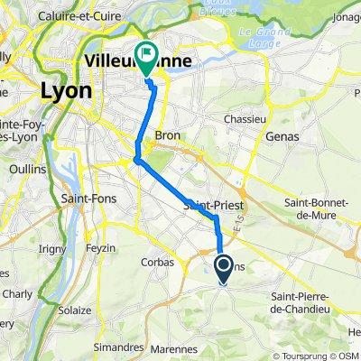 De 13 Rue George Sand, Mions à 11 Rue du Progrès, Villeurbanne
