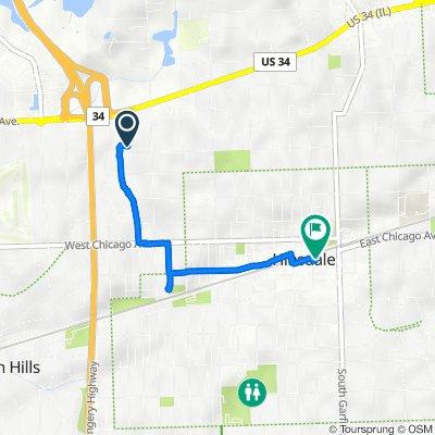 415 N Bruner St, Hinsdale to 33 S Washington St, Hinsdale
