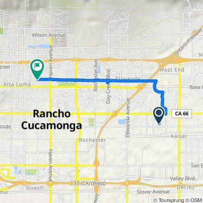 8420 Calabash Ave, Fontana to Pacific Electric Tr, Rancho Cucamonga