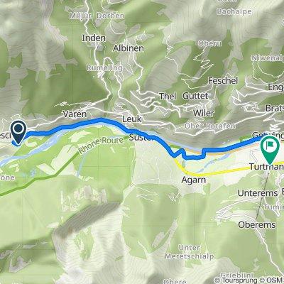 Untere Zellstrasse 25, Salgesch nach Kantonsstrasse 15, Turtmann-Unterems