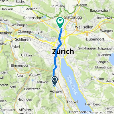 Im Sihlhof 4, Adliswil to Eduard-Imhof-Strasse 4, Zürich