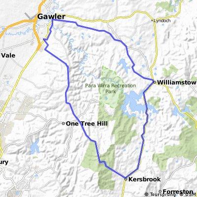 Gawler Wheelers-ROUTE03C-Gawler-Kersbrook-Williamstown-Gawler-HILLS