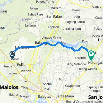 Pulilan – Baliuag Bypass Road to General Alejo G. Santos Highway 3012, Angat