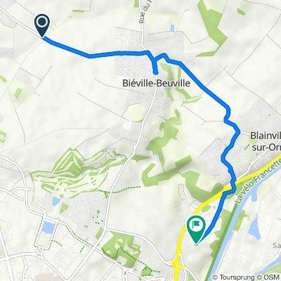 De Route de Beuville, Mathieu à Beauregard, Hérouville-Saint-Clair
